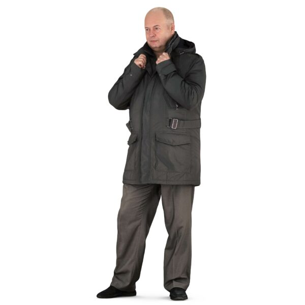 3d man in winter clothes standing pose - scanned 3d models - Renderbot