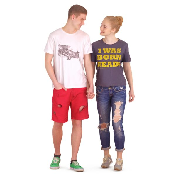 3d scanned boy with girl walking pose - scanned 3d models - Renderbot