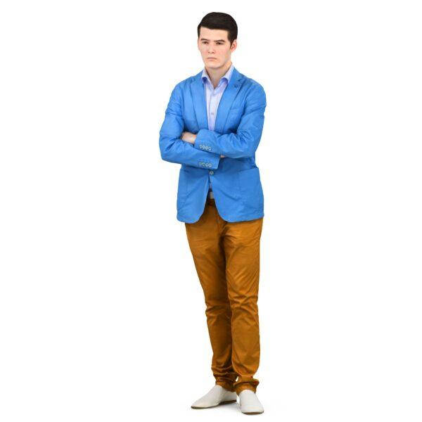 3d man in a blue jacket - scanned 3d models - Renderbot