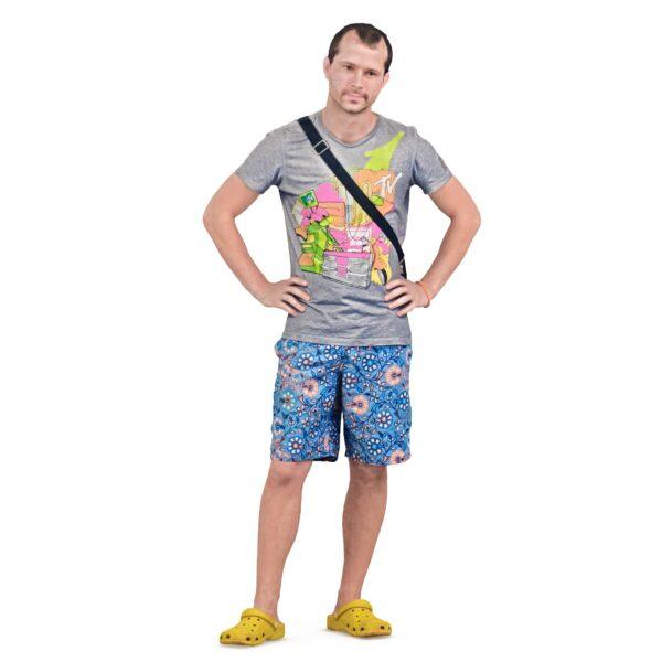 3d man in yellow crocs - scanned 3d models - Renderbot