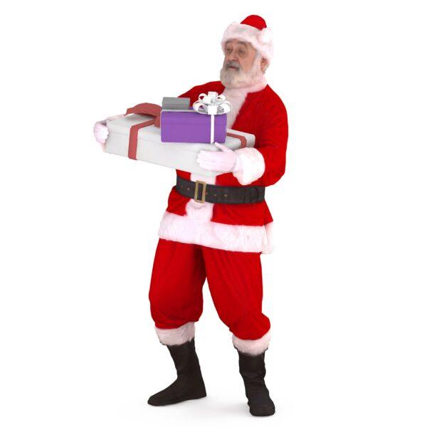3d santa carries gifts - scanned 3d models - Renderbot