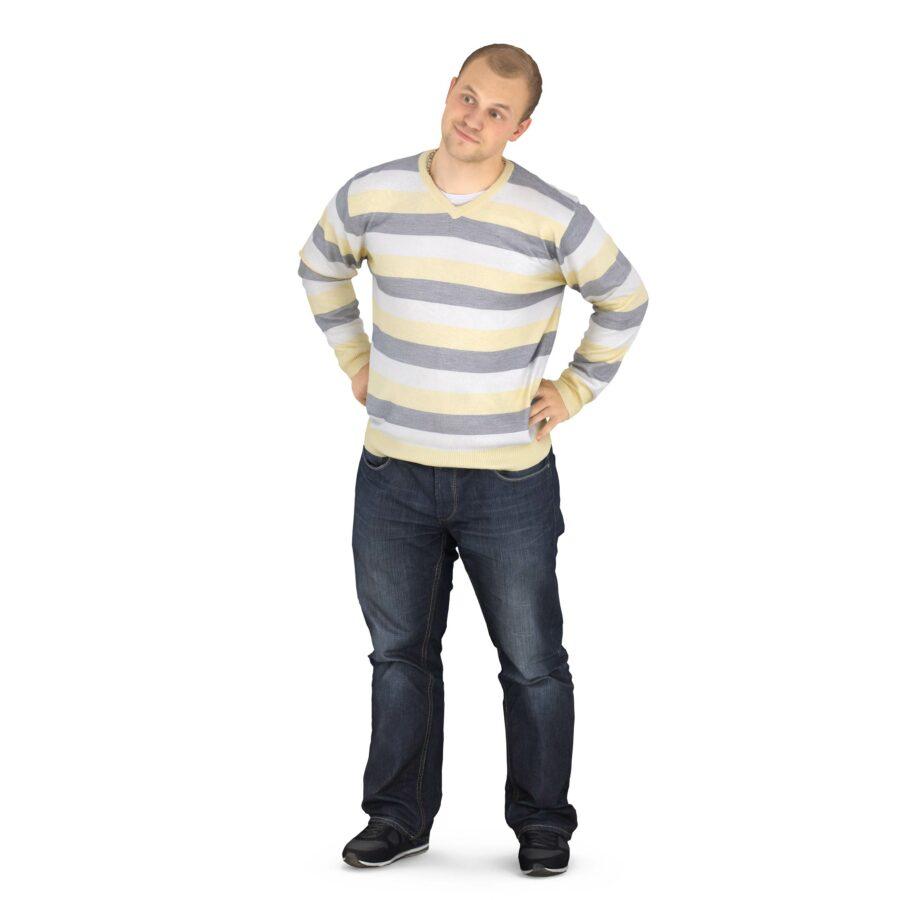 3d man in a sweater - scanned 3d models - Renderbot
