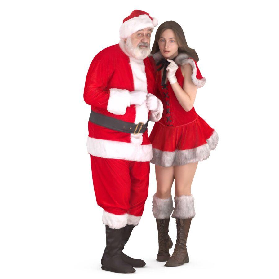 3d santa and mrs santa - scanned 3d models - Renderbot