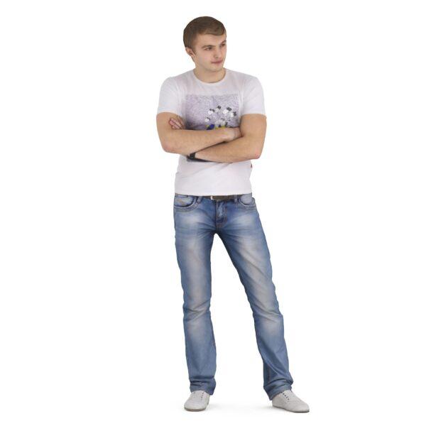 3d scanned man standing closed pose - scanned 3d models - Renderbot