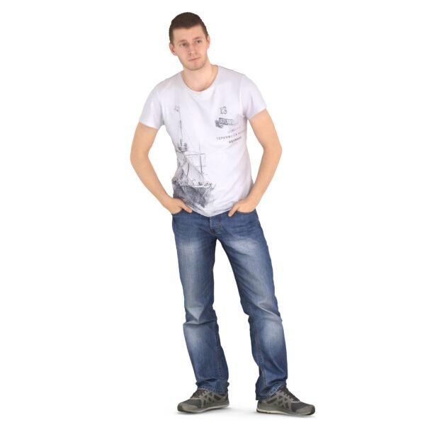 3d guy hands in pockets - scanned 3d models - Renderbot