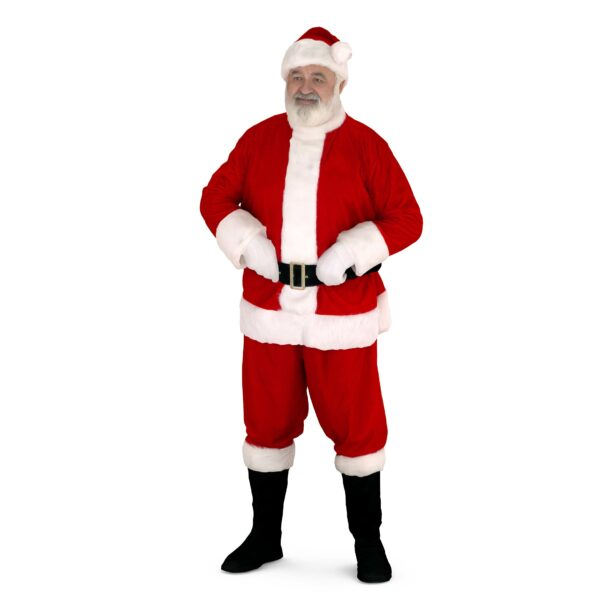 3d santa claus standing pose 3d model, ready for render and 3d printing. 3d people ready for download in OBJ, FBX, STL etc